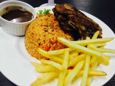 Lamb Chop with Fried Rice