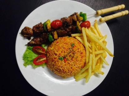 Skewer with Fried Rice